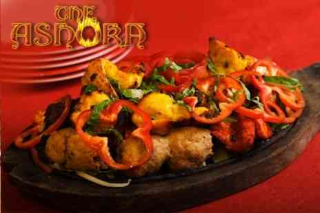 The Ashoka - Any Starter and Main Course For Two With Rice or Naan and a Drink Each - Save 64%