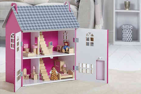 Trojan Electronics - Carousel My Dolls House with 15 pieces of furniture - Save 0%