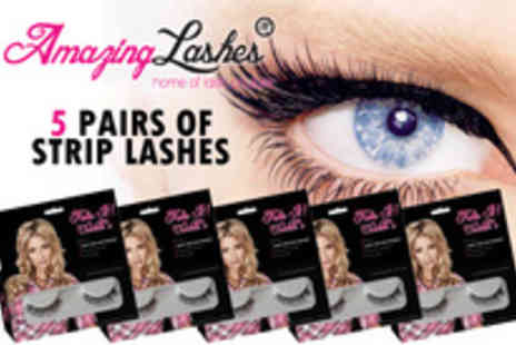 Amazing Lashes - Look Amazing, Feel Amazing, Wear Amazing  with five long lasting strip lashes - Save 51%
