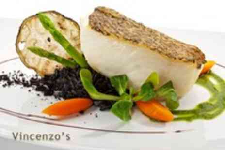 Cafe Vincenzos - Two course Italian meal for 2 with a glass of wine each - Save 61%