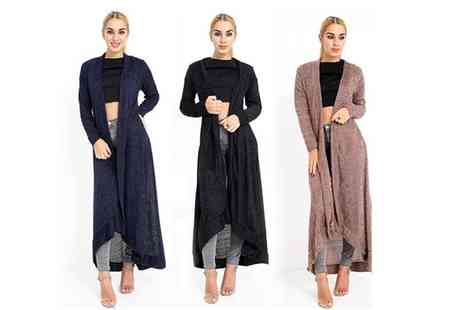 Verso Fashion - Maxi towel feel cardigan choose from three colours - Save 60%