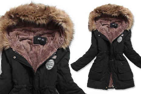 JAOYEH IRELAND - Winter Parka With Faux Fur Hood Choose from 4 Colours - Save 73%
