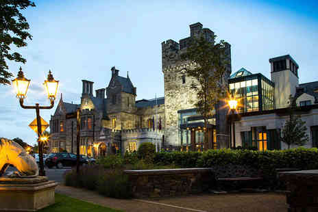 Clontarf Castle Hotel - Overnight stay for two people including breakfast, a bottle of Prosecco, chocolates, and a late check out - Save 42%
