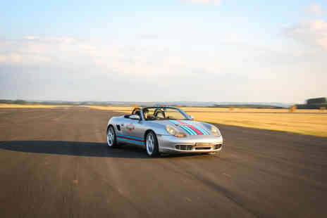 Car Chase Heroes - Three lap junior or adult driving experience in a Porsche Boxster Martini - Save 51%