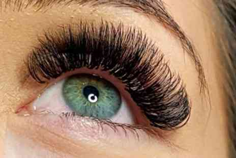 Amber Fisher - Individual or Russian Volume Eyelash Extensions - Save 48%