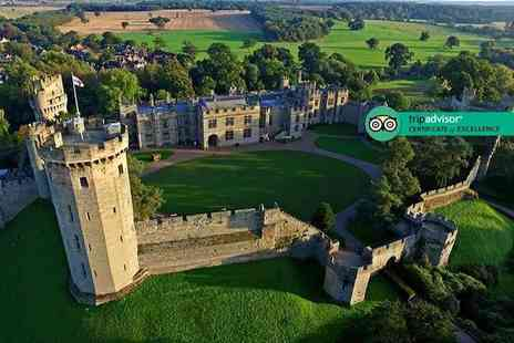 Warwick Castle - Full day entry ticket to Warwick Castle including a hot drink enjoy a great day of family fun - Save 41%