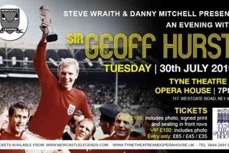 An Evening - One entry, VIP or VVIP ticket to An Evening with Sir Geoff Hurst on 30 June - Save 54%