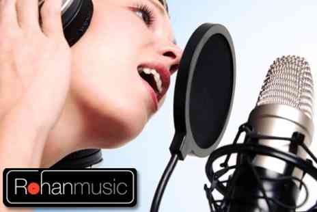 RohanMusic - Two Hour Pop Star Experience For Up To Four People With A Photo Shoot - Save 61%