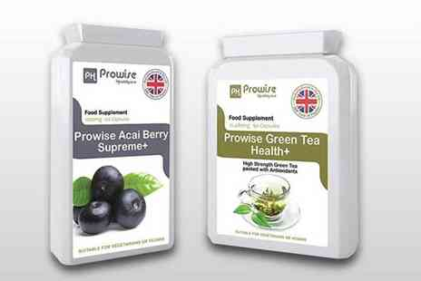 Prowise Healthcare - Two month supply of acai berry and a 1 month supply of green tea supplements - Save 76%