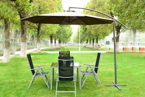 Mhstar - 3m outdoor banana parasol - Save 62%