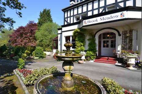Brook Meadow Hotel - Overnight stay for two people with breakfast and late checkout or include three course dining - Save 42%