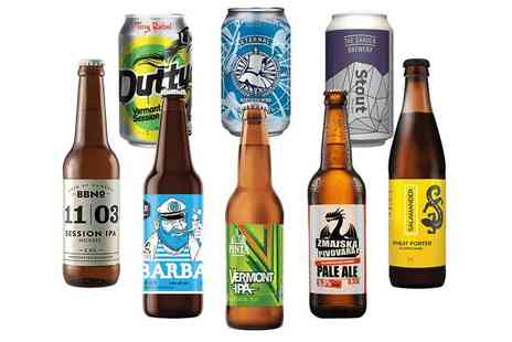 Beer52 - Craft beer hamper including a mix of eight light and dark beers, Ferment magazine and a snack - Save 46%
