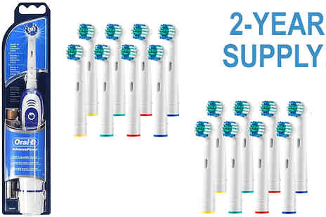 Impress Gadgets - Braun OralB Electric Toothbrush with 16 x Compatible Replacement Heads - Save 68%