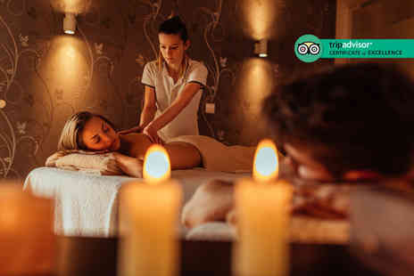 Doubletree by Hilton - Couples twilight spa experience for two people with a treatment each and a two course dinner with a glass of bubbly - Save 46%