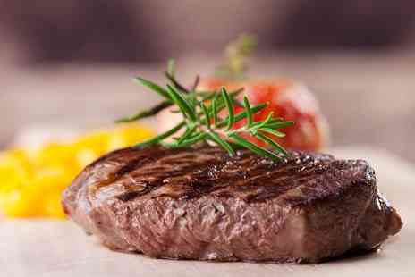 Ingram Wynd - Rib eye steak dining for two people with a glass of wine each or four people upgrade to include a bottle of wine instead - Save 55%