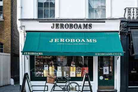 Jeroboams Wine Merchants - Wine tasting for two people including six samples, a cheeseboard and charcuterie board - Save 52%
