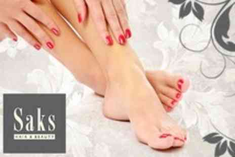 Saks Hair and Beauty - OPI Manicure and Pedicure - Save 60%