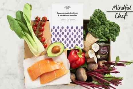 Mindful Chef - One or Two Healthy Recipe Boxes From Mindful Chef with Two Meals Each Week - Save 58%