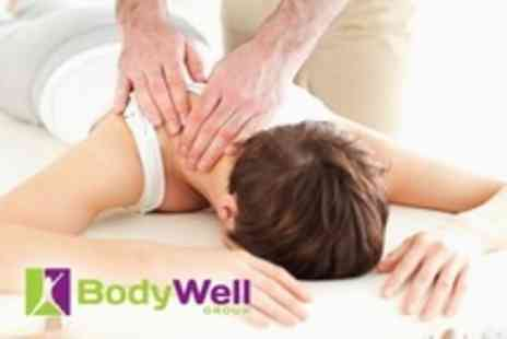 The BodyWell Group - Chiropractic Treatment Package With Digital Spinal Nerve Scan, Deep Tissue Massage and Health Workshop - Save 89%