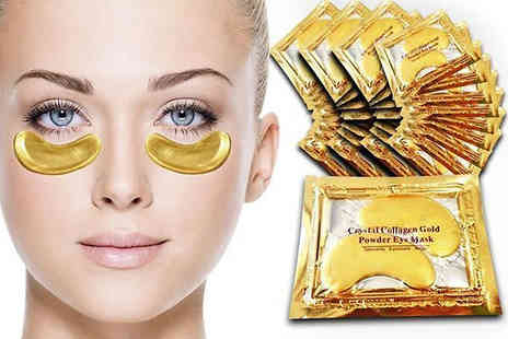 Forever Cosmetics - 40 Crystal Gold Collagen Eye Masks - Save 81%