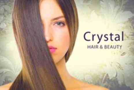Crystal Hair & Beauty - Brazilian Blow Dry With Cut - Save 75%