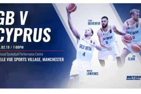 GB Basketball vs Cyprus - One child or adult ticket to Great Britain v Cyprus basketball match on 21 February - Save 38%