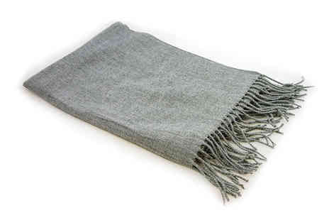 Deals Direct - Cascabelle oversized grey scarf - Save 50%