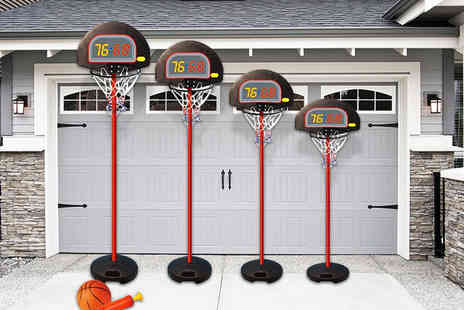 Eurotrade - Shoot some hoops with a height adjustable kids basketball set - Save 60%