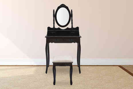 UK Furniture Zone - Ornate dressing table matching stool choose from four colours - Save 66%