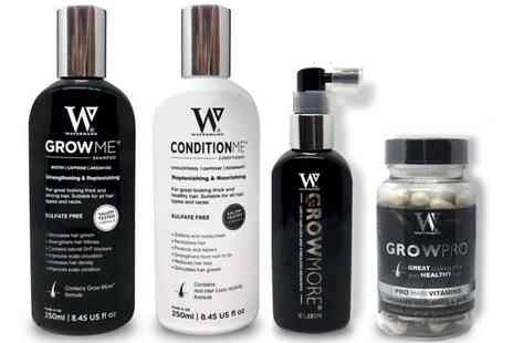 Groupon Goods Global GmbH - Watermans Grow Me Shampoo, Conditioner, Elixir or Vitamins - Save 28%