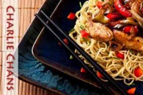 Charlie Chans - Three Course Chinese Meal For Two With Wine and Side - Save 56%