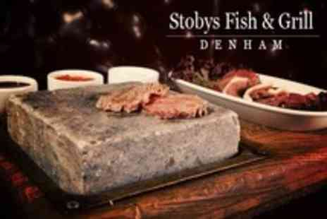 Stobys Fish & Grill - Black Rock Grill Interactive Dining For Two With Wine - Save 58%