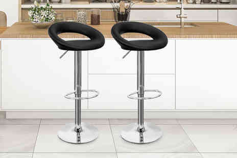 Home Empire - Set of two Pu leather bar stools - Save 72%