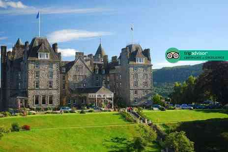 Atholl Palace Hotel - Four Star Overnight luxury Scottish getaway for two with breakfast, three course dinner with a glass of wine and leisure access - Save 38%