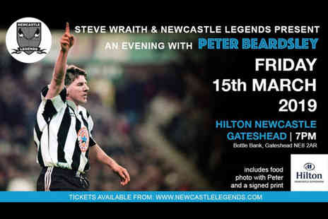 Newcastle Legends - VIP Entry ticket to Evening with football legend Peter Beardsley, Tino Asprilla or Rob Lee including dinner, a photograph and signed print - Save 40%