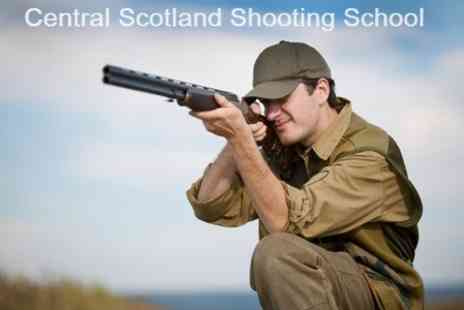 Central Scotland Shooting School - Clay Pigeon Shooting With Tuition - Save 58%
