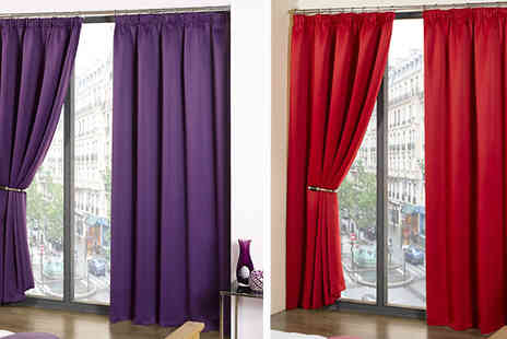 Style my bedroom - Thermal Blackout Curtains Available in Six Colours - Save 40%