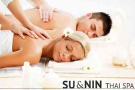 Su and Nin Thai Spa - Two Hour Body Scrub and Massage For Two - Save 75%