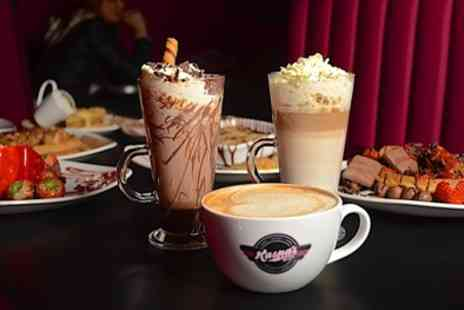 Kaspas Midlands - Choice of Waffle or Cake with Hot Drink - Save 33%
