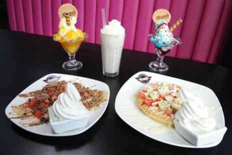 Kaspas Midlands - Frappe or Milkshake with Waffle, Sundae, Crepe or Cookie Dough - Save 32%