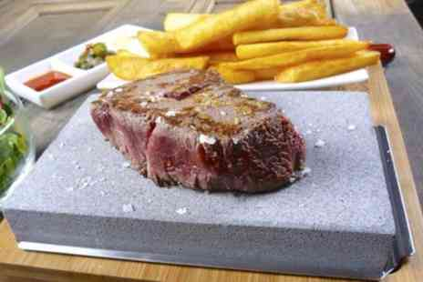 La Barbacoa - Rump Steak on Hot Stone and Glass of Prosecco for Two or Four - Save 40%