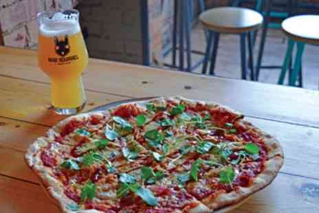 Mad Squirrel Tap And Bottle Shop - Pizza of Choice and Beer or Wine for Up to Six - Save 37%