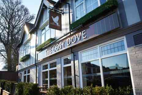 Cosy Dove Pub and Dining - Burger and Fries for Two or Four with Optional Beer or Glass of Wine - Save 50%