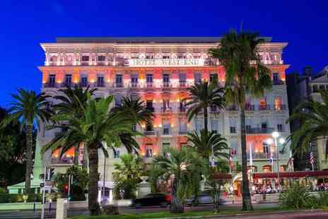 Hotel West End Nice - Four Star Historic Glamour on the Promenade des Anglais for two - Save 72%