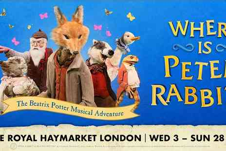 Encore Tickets - Where Is Peter Rabbit A Beatrix Potter Musical Adventure - Save 0%