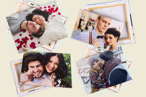 Colorland - Personalised photo canvas choose from 6 sizes - Save 71%