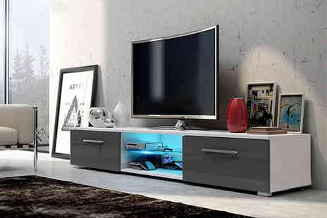 Selsey Living - Contemporary Led Tv unit with two storage cupboards - Save 78%