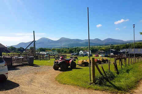 Funny Farm Adventures - Overnight glamping pod stay for four people - Save 35%