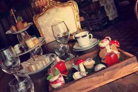 The Farmers Arms - Mad Hatters themed afternoon tea for two people with a glass of Prosecco and a cocktail each - Save 72%