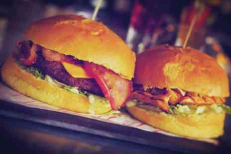 One Up Glasgow - Burger with Fries and Optional Beer or Glass of Wine for Two or Four - Save 53%